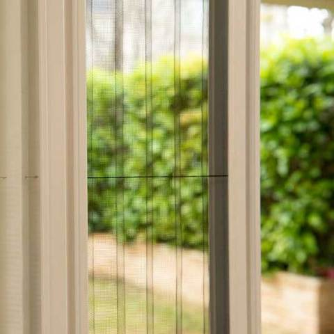 Add a dim out blind to your retractable fly screen