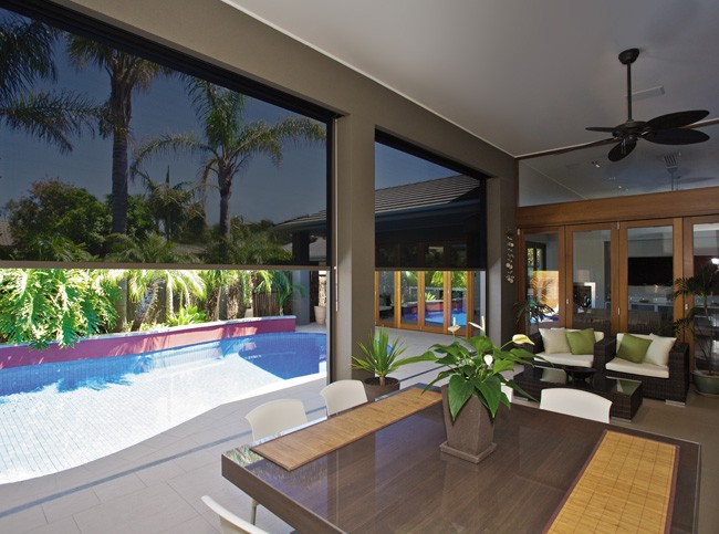 Outdoor blinds create livable space