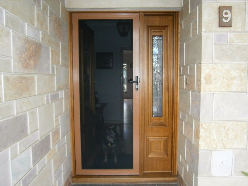 Security screen doors for privacy or visibility