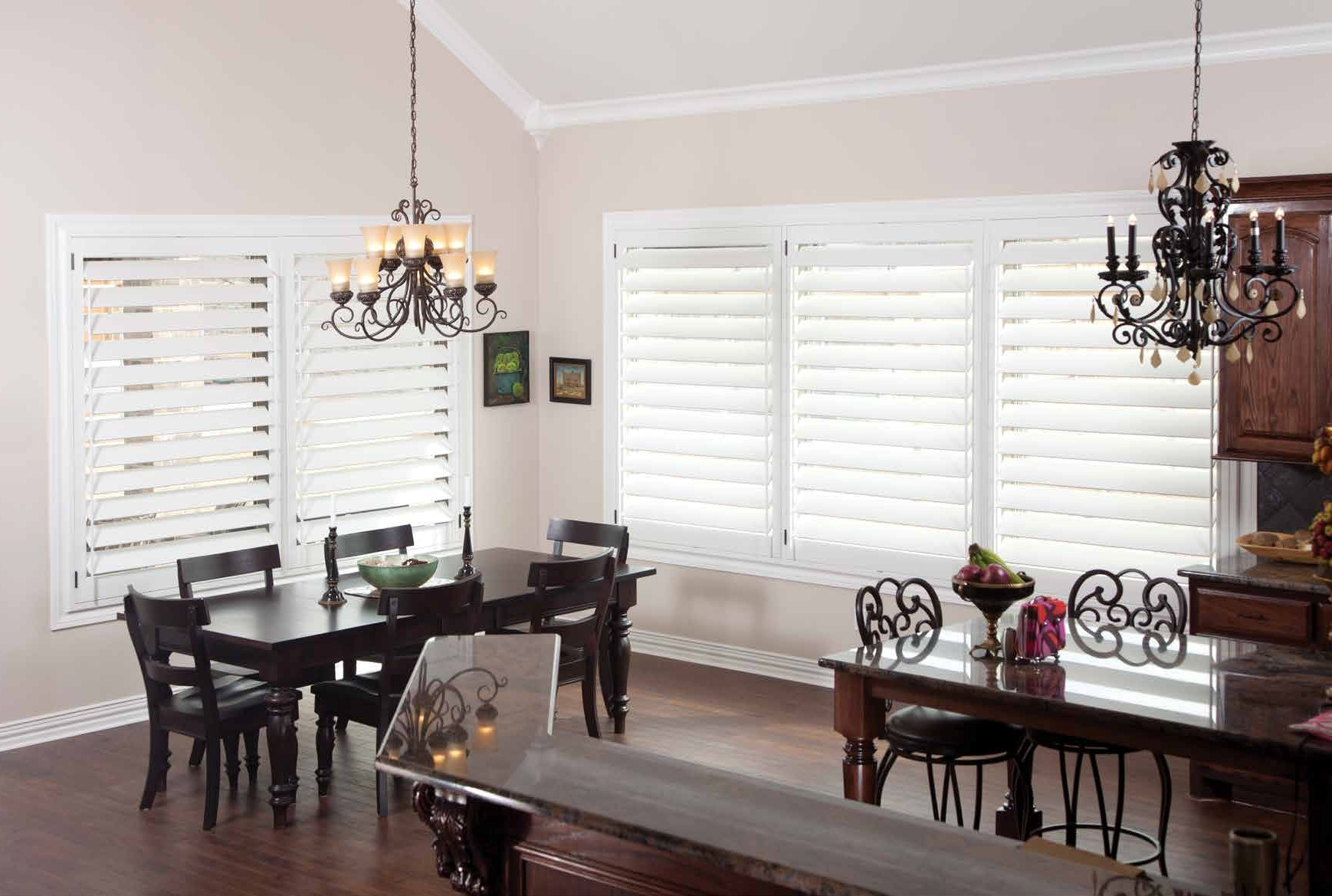 Timber plantation shutters for living areas