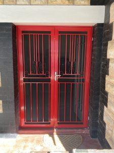 Double Security Door - Flame Red