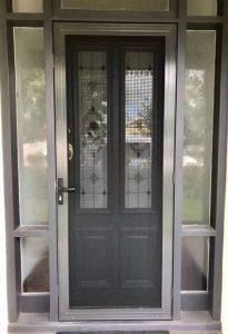 Invisi Gard Door Infront of Decorative Entry Door